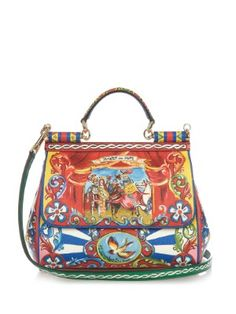Sicily medium Carretto-print leather bag | Dolce