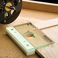 Router jig - option 2 for concealed hinges. $16.99 at rockler.com, bit not included.