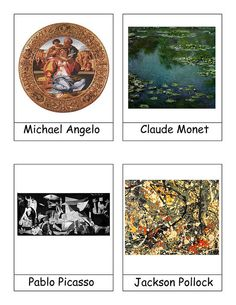 Great Artist Nomenclature Cards (W13-W18)