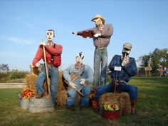 Scarecrow Competition Ideas   The Jug Head Band was created by Powell Gardens' Visitor Services ...