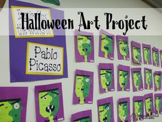 When I saw this the other day in a third grade classroom, I just had to snap a photo. What a cute idea to make a Frankenstein in the style of Pablo Picasso! After looking at examples of Picasso's w...