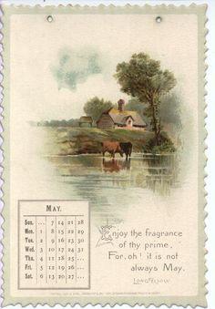 LONGFELLOW CALENDAR FOR 1893 -mei