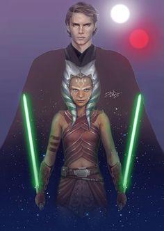 Anakin Skywalker & Ahsoka Tano - Daniel de Almeida e Silva