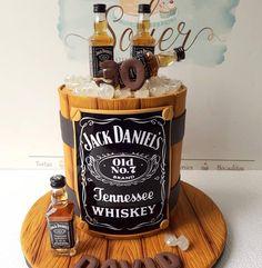 36 Whiskey Birthday Cake Design ideas For also love these ideas. Johnnie Walker Whiskey Bottle Birthday Cake by Sweet Element Cakes. Scotch Bottle in Crate Birthday Cake. Festa Jack Daniels, Jack Daniels Cake, Whiskey Barrel Cake, Whiskey Cake, 30th Birthday Cakes For Men, 40th Birthday Themes, Cake In A Can, Bottle Cake, Beautiful Birthday Cakes