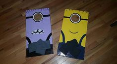 Check out this item in my Etsy shop https://www.etsy.com/listing/463457342/kids-cornhole-set-good-minion-vs-evil