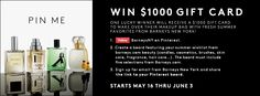 PIN & WIN! Enter NOW for the chance to WIN a $1,000 gift card to Barneys New York! To enter, visit: http://on.fb.me/Mkendj