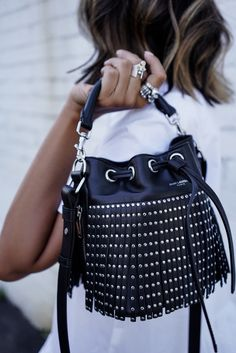 YSL Black Bag Studs