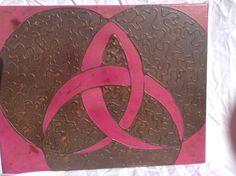 "Trinity 16x20"" Acrylic and glue in canvas"