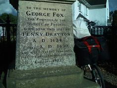 George Fox Memorial, George Fox Lane, Fenny Drayton, Leicestershire (England). Marks the birthplace of George Fox [1624-1691].