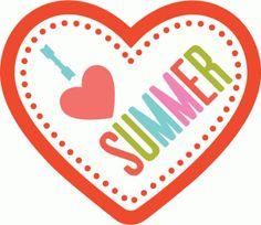 Silhouette Design Store - View Design #75344: i love summer