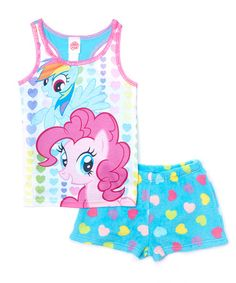 Another great find on #zulily! Blue My Little Pony Sleep Tank & Shorts - Girls by My Little Pony #zulilyfinds