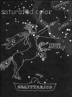 black and white constellation | ... Chart Map - Zodiac Constellation Stars from 1948 Astronomy Textbook
