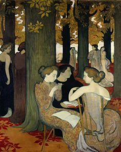 'Les Muses' (1893) by French Symbolist painter Maurice Denis (1870-1943). via to love many things
