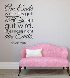 Wandtattoo, Spruch, Spüche, Zitat, Oscar Wilde, Wandsticker