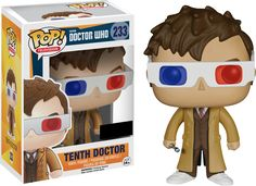 Doctor Who - 10th Doctor 3D Glasses Pop! Vinyl Figure by Funko