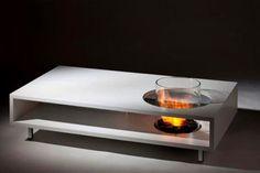 Coffee Table with Smokeless Fireplace