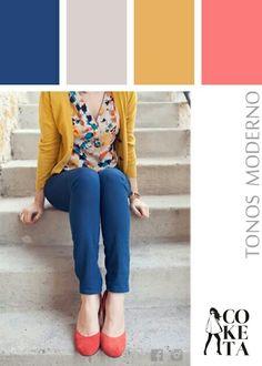 Prueba ésta combinación de colores, ilumina el lugar al estilo Coketagt fashion colors, trend apparel