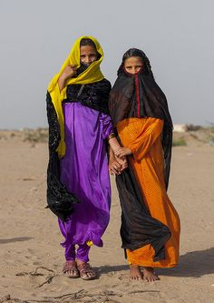 Rashaida Tribe Girls, Port Sudan, Sudan.