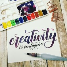 """Leslie no Instagram: """"If you can't tell, I really love this quote. And I couldn't resist writing it galaxy style for @calligrabasics #cb_galaxy week. Let your…"""""""