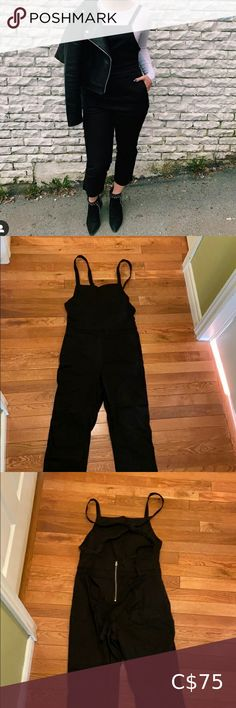 Black fashion overalls Only worn once for a couple of hours. In perfect condition. Sugarlips Pants & Jumpsuits Jumpsuits & Rompers