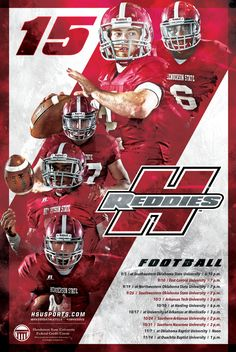 Henderson State Football schedule poster