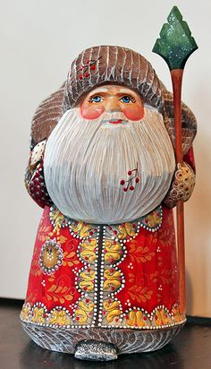 Hand-carved Russian Santa