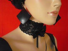 Halsband/Kropfband .... ideal für Freizeit, Show, Bühne,Tanz,Burlesque,PinUp,Gothic, Lolita,Zofe,Sissy Maid, ....... Onesize (elastisch) Extrav...