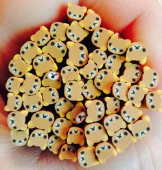 *PRICE DRASTICALLY REDUCED* Craft Destash! Only set available! You will receive 50 cute bear polymer clay canes. Canes measure approximately 2 inches long (5 cm) and 5mm wide. Canes can be used for a variety of crafting including, nail art, scrapbooking, decoden, miniature food decoration, cell phone deco, and more! Canes are unsliced. I will add a cane slicing razor to this set. Cane slice thickness depends on how thin or thick you cut. I can slice approximately 100-150 slices from each…