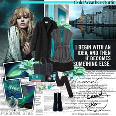 """Cold weather outfit"" by vassiliki-g ❤ liked on Polyvore"