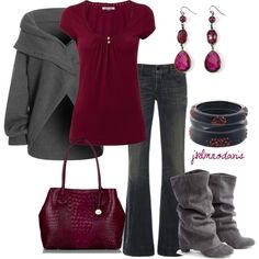 Gray & Berry by jklmnodavis, via Polyvore