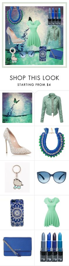 """What Happens When You Let Your Little Sister Pick a Template And Items To Go In It. . . LMAO"" by kate-reads on Polyvore featuring J.TOMSON, Casadei, Ricardo Rodriguez, Pusheen, LE3NO and MICHAEL Michael Kors"