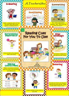 READING Resources-Comprehension posters for you. Reading Games, Reading Centers, Reading Resources, Reading Strategies, Reading Activities, Reading Skills, Classroom Activities, Classroom Ideas, Kindergarten Classroom