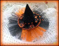 Halloween Hair Clip....Witch Hat Hair Clip....Holiday by kikibowz, $8.00