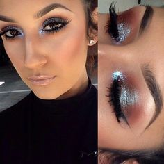 (MAC Blue Brown pigment?) ..Quite a nice makeup, particularly with dark eyes & hair and tanned skin.