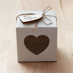 White Favour Box Heart Window for Party Wedding Baby Shower Bomboniere Gift - 20 boxes on Etsy, $9.00 AUD