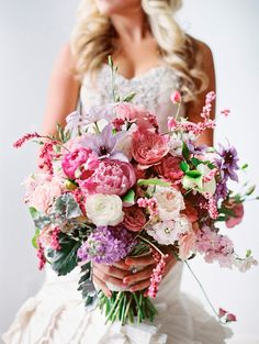 Pink and Purple Barbie Inspired Bouquet by Blossom Sweet | photography by http://www.mikkiplatt.com/