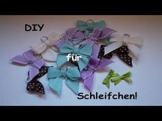 Schleife binden how to tie a bow basteln pinterest for Schleife binden youtube