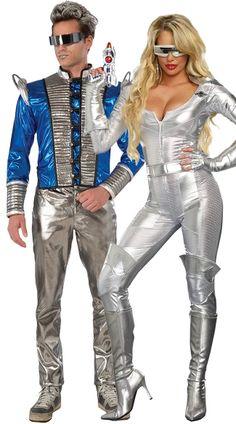 Space Age Couples Costume #Yandy #HalloweenCostume #CoupleCostume