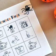 Print your own Halloween bingo game!