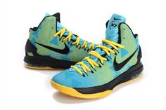 "Nike Zoom KD V ""N7"" Blackened Blue-Black-Yellow - Click Image to Close"