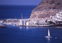 The pretty Puerto Mogán Marina in the far south of Gran Canaria