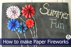 How to make Paper Fireworks