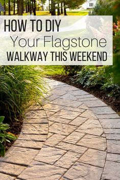 DIY flagstone pathwa