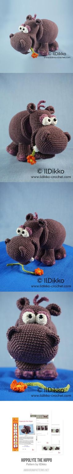 Hippolyte The Hippo Amigurumi Pattern