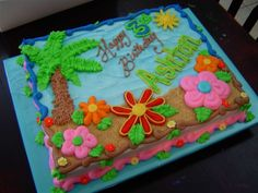 luau birthday cake designs - Google Search