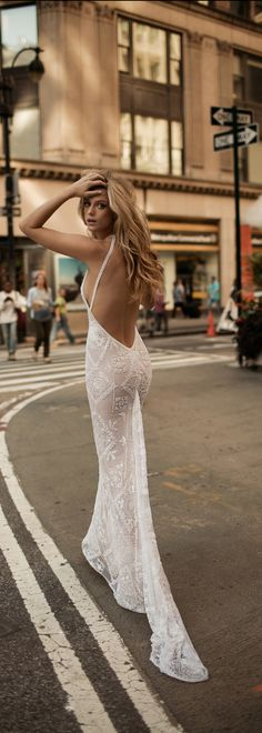 This #BERTA back is everything. From the new FW 2017 bridal collection.