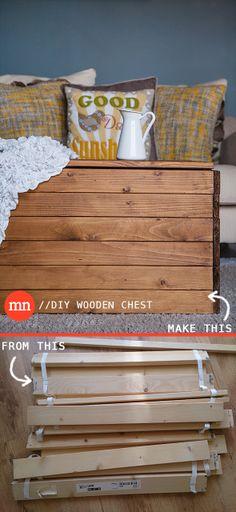diy wooden chest DIY Coffee Table from Ikea Malm slats. Wooden Diy, Diy Coffee Table, Ikea Bed Slats, Chests Diy, Ikea Bed, Bed Slats Upcycle, Diy Coffee, Diy Furniture, Wood Diy