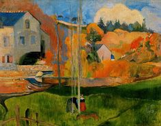 Breton Landscape av Paul Gauguin