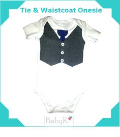 Tie & Waistcoat Onesie for some old school by BabyK. Boy Outfits, Old School, Custom Made, Onesies, Bodysuit, Tie, Boys, Color, Clothes