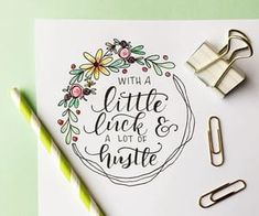 Maybe a whole lotta luck! Flowers: STA Pigment Liner Script: Tombow Fude Ha… Maybe a whole lotta luck! Hand Lettering Quotes, Doodle Lettering, Brush Lettering, Typography, Calligraphy Doodles, Calligraphy Letters, Calligraphy Flowers, Watercolor Calligraphy Quotes, Calligraphy Quotes Doodles